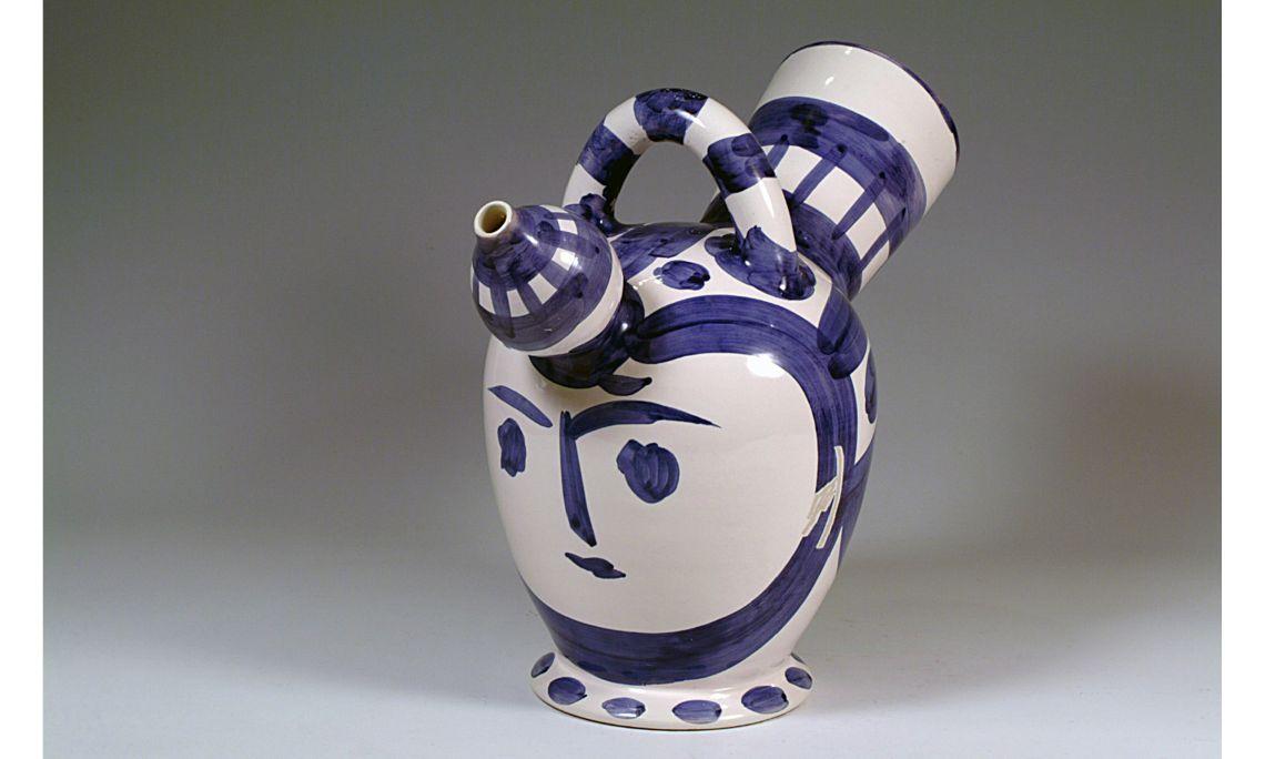 Càntir «cap femení», Pablo Ruiz Picasso, 1952, 32,5×38cm, Valàuria (França)