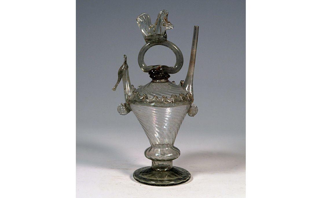 Botijo de vidrio, finales del sigloXVIII, 21,5×12cm, Cataluña