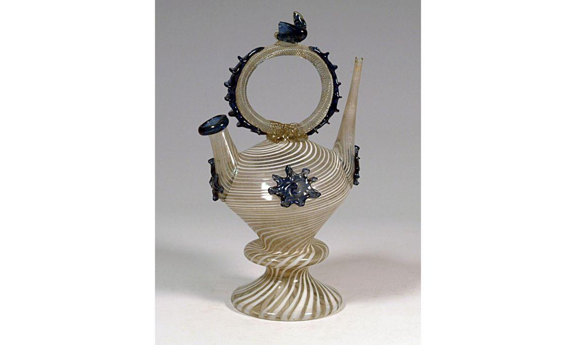 Botijo de vidrio, siglosXVIII-XIX, 22,5×11,2cm, Cataluña