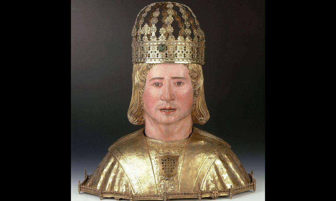 Bust reliquiari de sant Sebastià, segle XVI, catedral de Solsona (el Solsonès).