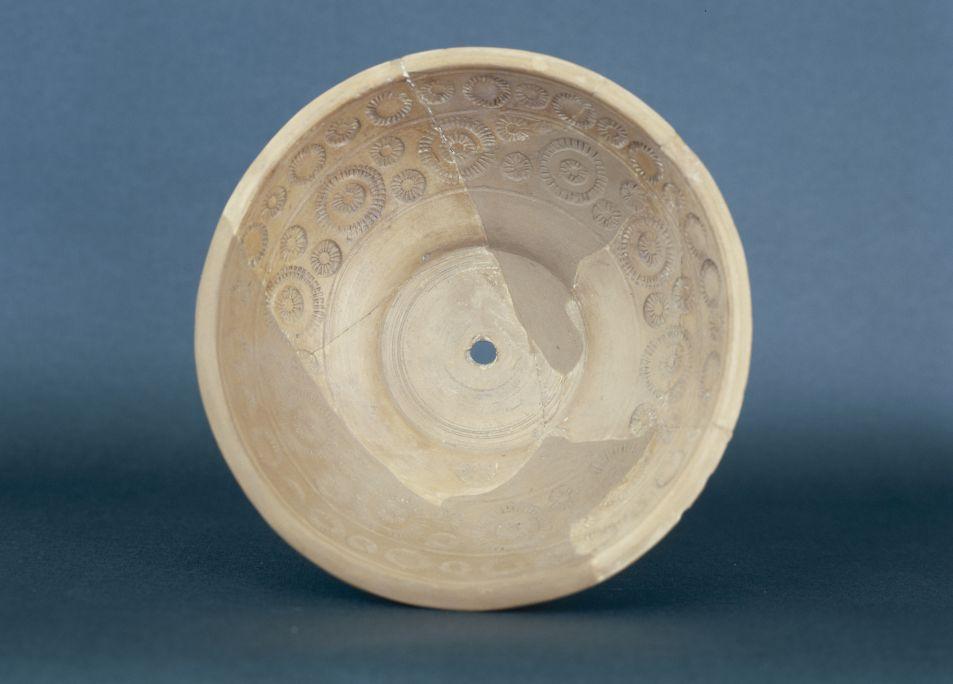 A sigillata ceramic mould to decorate table crockery, used in the Roman pottery studio of Abella (Navès, Solsonès region)