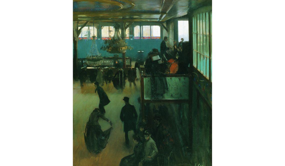 Ramon Casas, Baile en el Moulin de la Galette, 1890-1891, París, óleo sobre lienzo