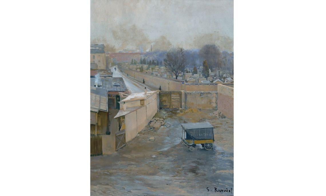 Santiago Rusiñol, Cementiri de Montmartre, 1891, París, oli sobre tela