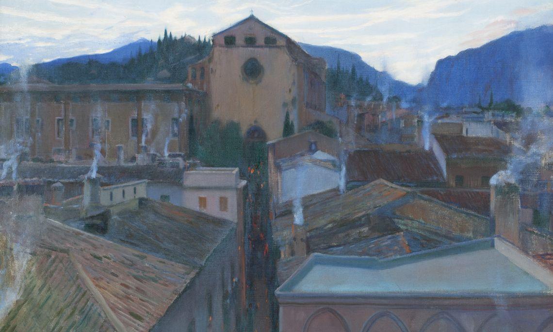 Santiago Rusiñol, Maundy Thursday in Pollensa (Mallorca), 1902, oil on canvas