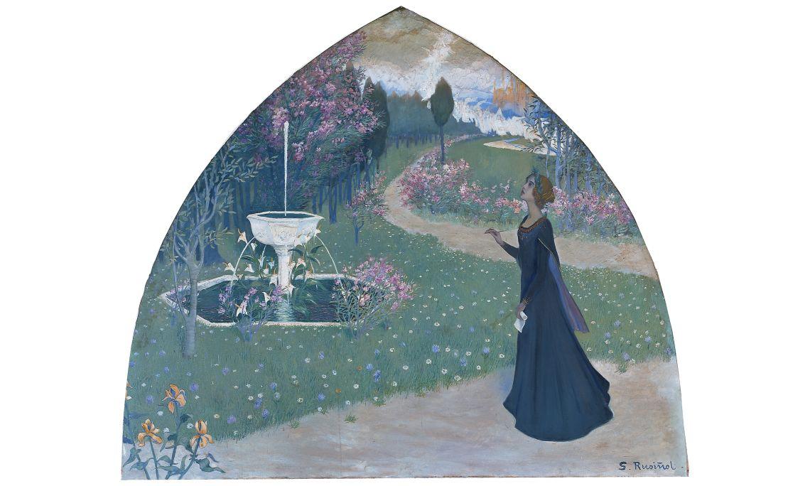Santiago Rusiñol, La Poesia, 1894-1895, París, oli sobre tela