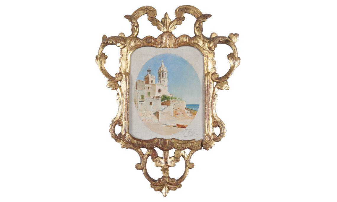 Joaquim de Miró, La Punta de Sitges, 1895, oli sobre tela