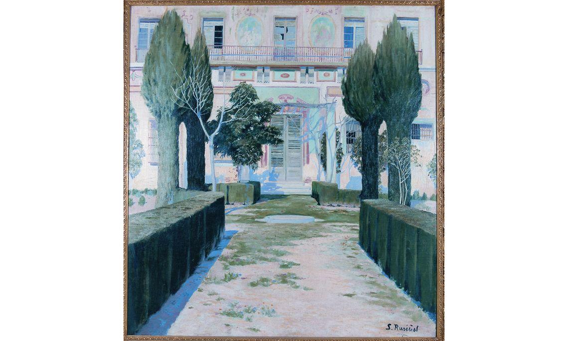 Santiago Rusiñol, Palau abandonat, 1898, Víznar (Granada), oli sobre tela