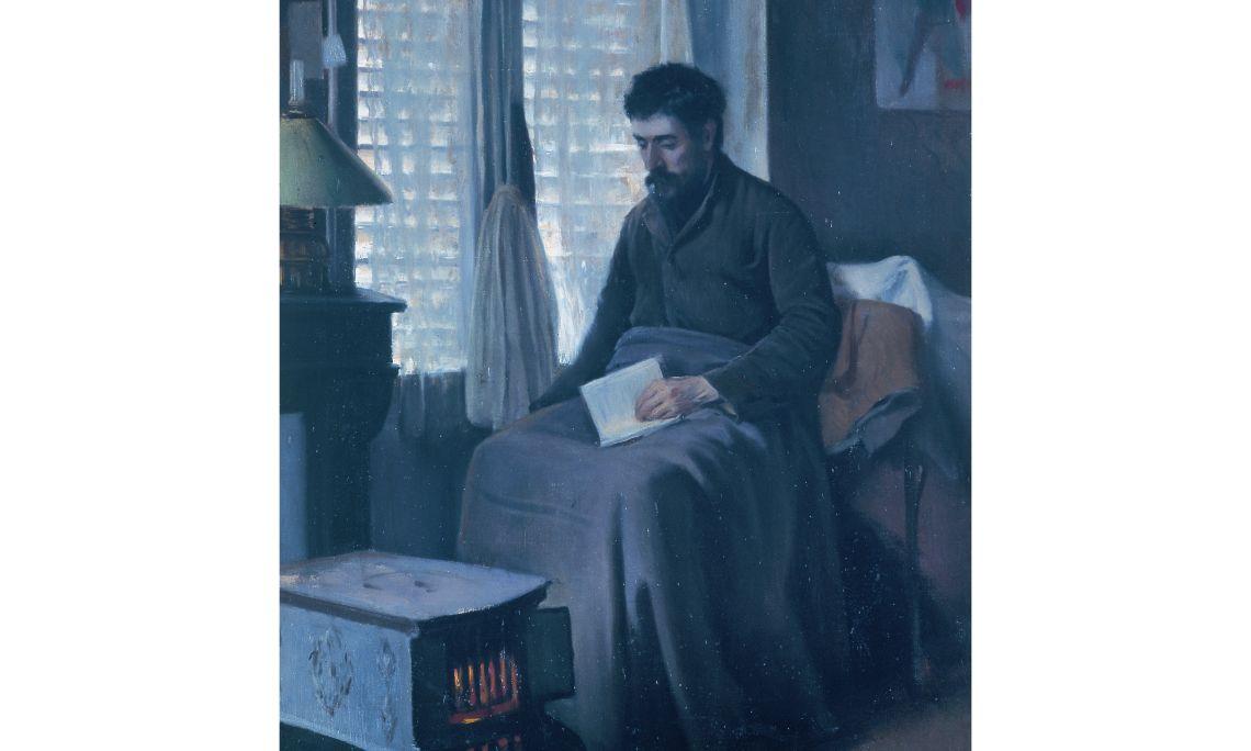 Santiago Rusiñol, Ramon Canudas, malalt convalescent, 1892, Sitges, oli sobre tela