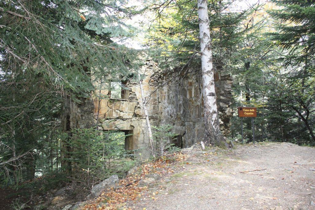 La casa del capataz estaba situada cerca de las instalaciones mineras