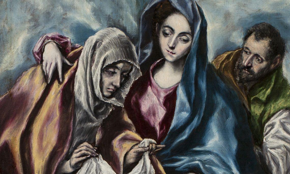 La Sainte Famille avec sainte Anne et saint Jean, Domínikos Theotokópoulos, dit el Greco, 1595-1600. Huile sur toile, 107×69cm.