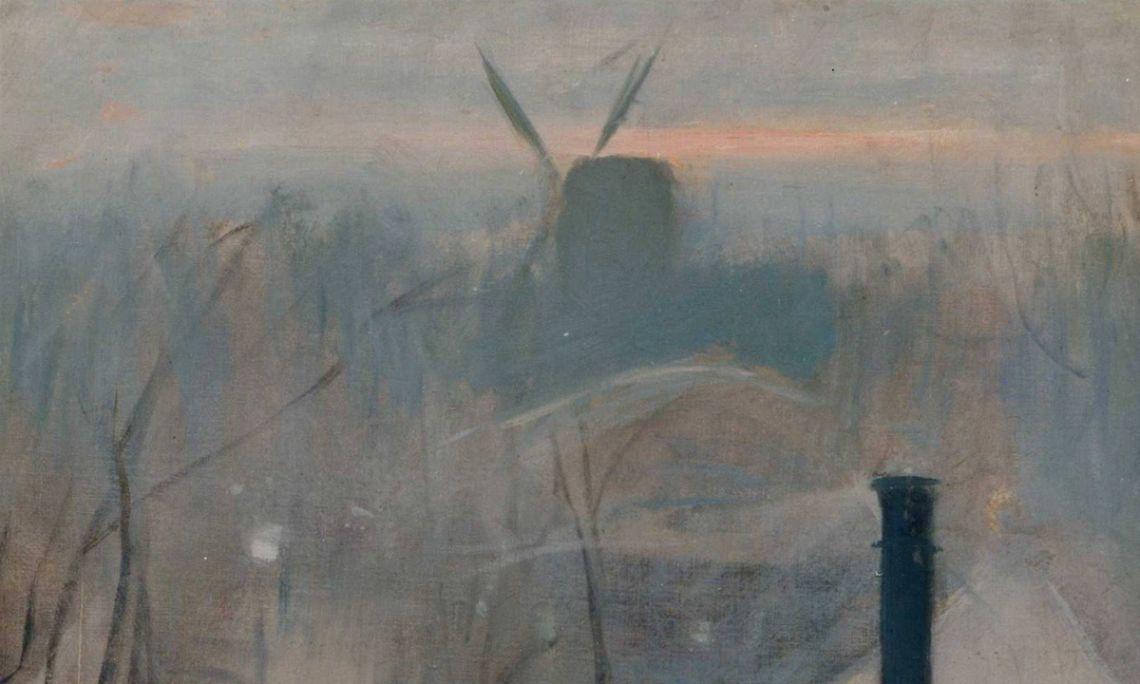 Montmartre, Ramon Casas, 1890-1891. Oli sobre tela, 64×45 cm.