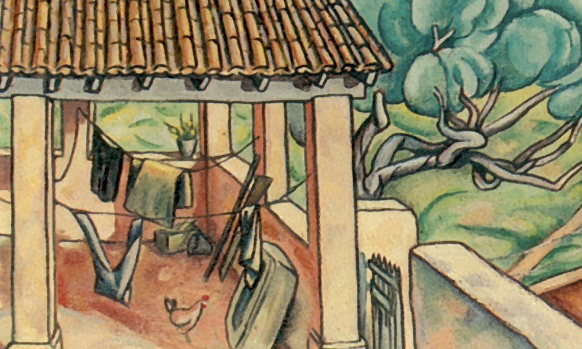 The Porch, Enric Cristòfor Ricart, 1918. Oil on canvas, 56×54 cm.