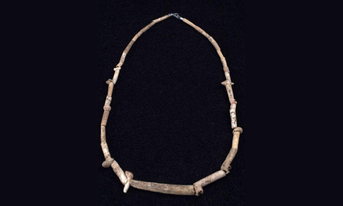 Collaret, petxines i os, 19.000 - 16.000 aC, Cau de les Goges (Sant Julià de Ramis, Gironès).