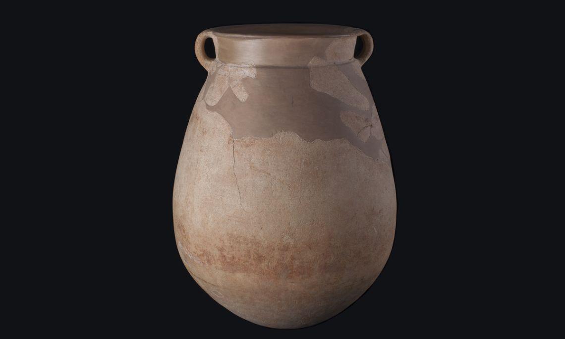 Pithos fenicio, cerámica a torno, necrópolis de Anglès (la Selva), primera Edad de Hierro, 700-600a.C.