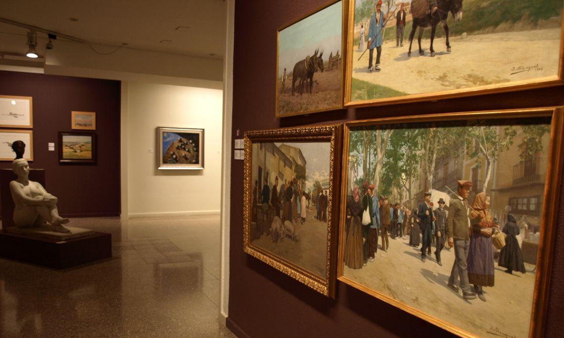 Josep Blanquet Taberner (Figueres 1873 – c. 1930). Subida del Castillo, 1899. Oleo sobre tela. 70 x 93,5 cm.