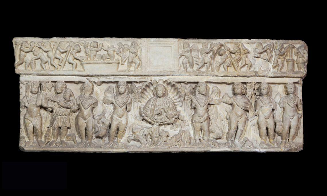 Sarcophagus showing the seasons, Empúries (Alt Emporda), Roman period, 4th century BC.