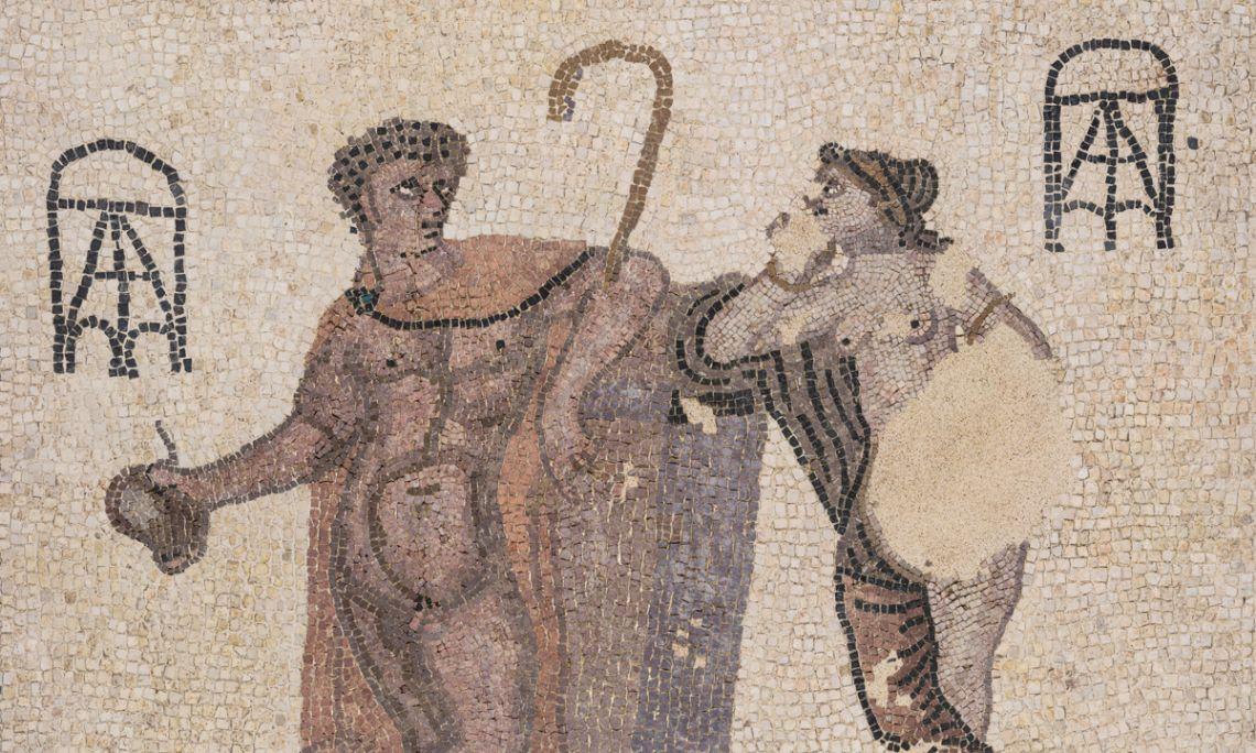 Mosaic, vil·la de Can Pau Birol (actual Bell-lloc del Pla), Girona, època romana, s. III.