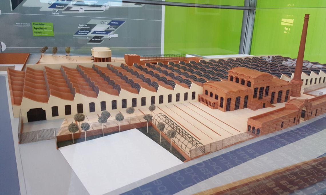 Maqueta de l'edifici del Vapor Aymerich, Amat i Jover