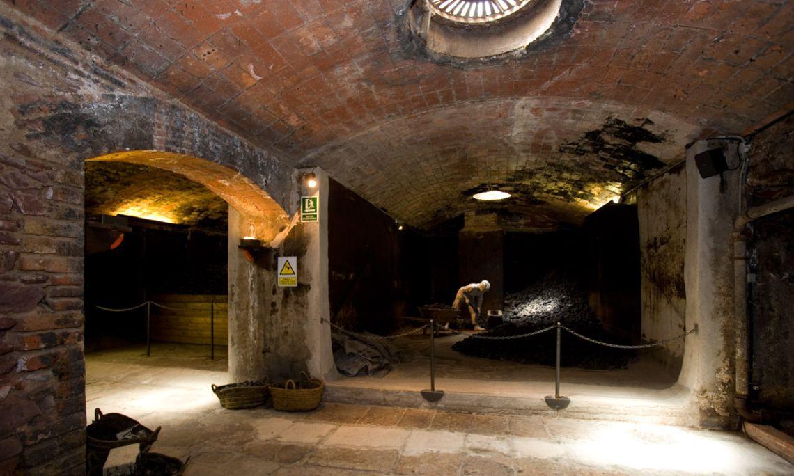 Espai de les carboneres de l'antiga fàbrica tèxtil