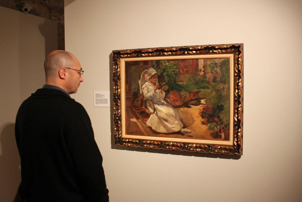 Retrat de Pilar Solans, Francesc Gimeno, 1922, oli sobre tela, 65×82,5cm