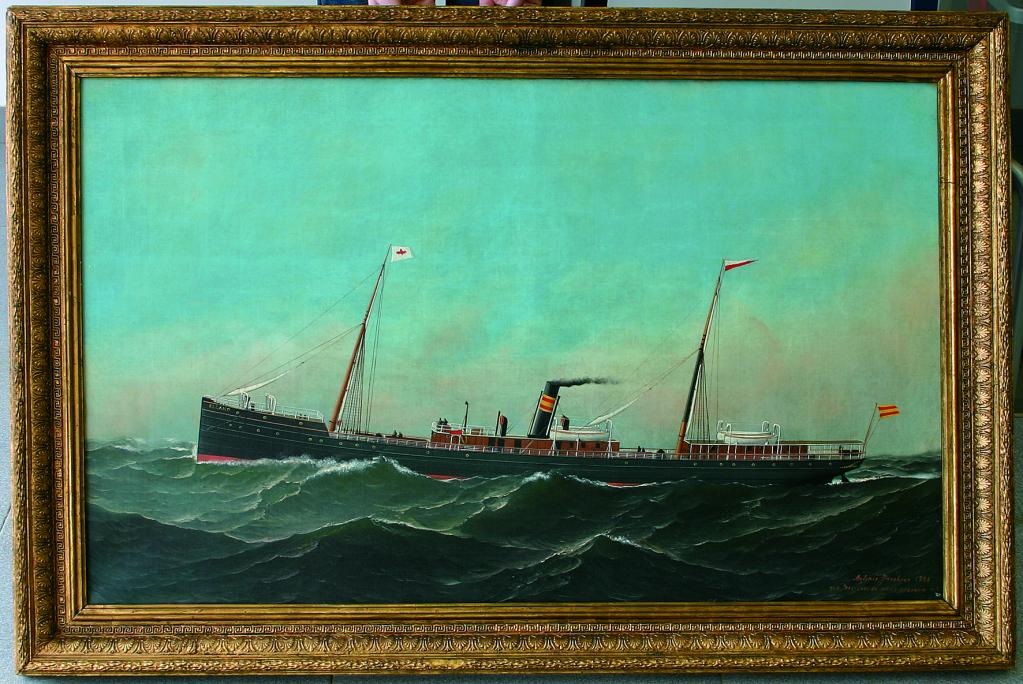 Representación del vaixell El Cano, Antonio Jacobsen, 1886