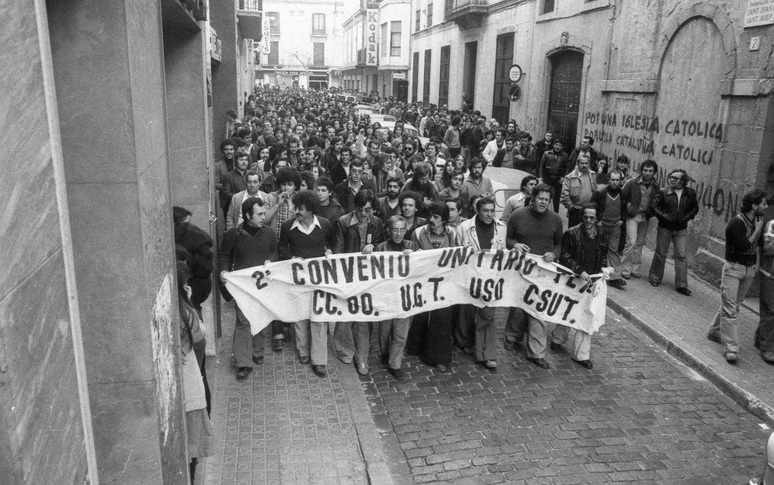 Textile sector demonstration in Mataró 1978 Enric Quintana Mataró Municipal Archive/Quintana Fund