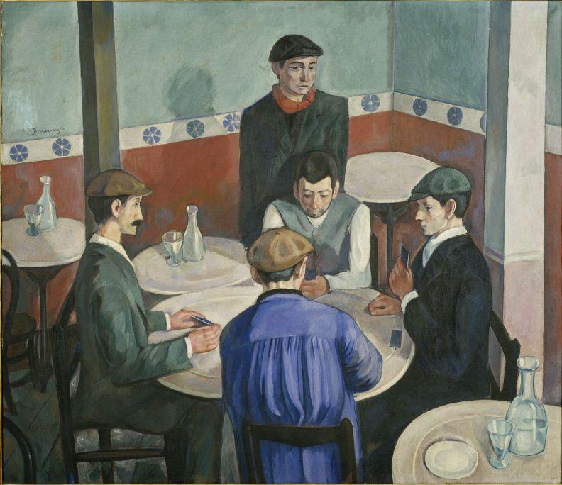Francesc Domingo Segura (Barcelona, 1893 – Sao Paulo, Brasil, 1974) Els jugadors, 1920 Oli sobre tela MNAC - Museu Nacional d'Art de Catalunya, Barcelona
