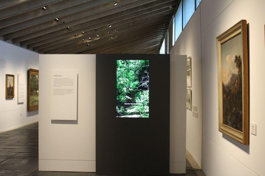 Fotografía del Espacio pantalla Escuela de Olot. Museo de La Garrotxa