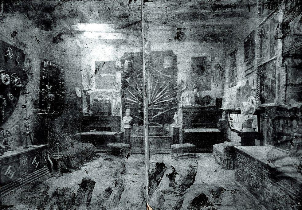 Autor desconegut Fotografia del primer Cau Ferrat, situat al carrer Muntaner de Barcelona, cap a 1890-1892 Còpia moderna Museu del Cau Ferrat, Sitges