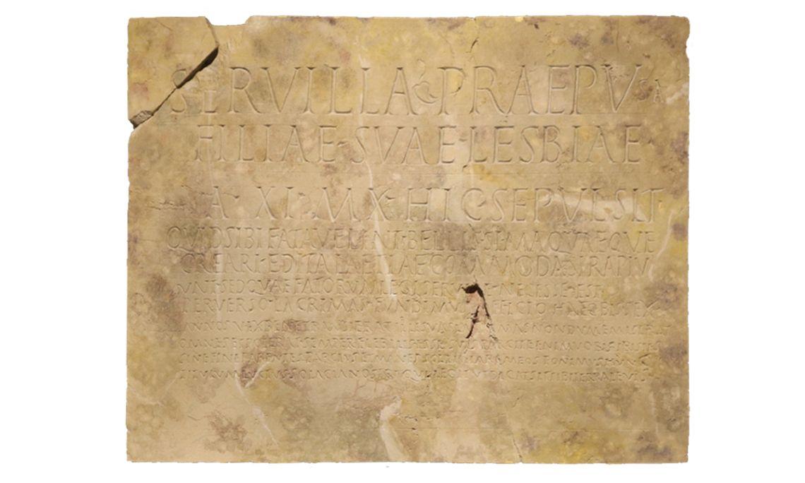 Lápida funeraria de Lesbia, s. I – III d.C.
