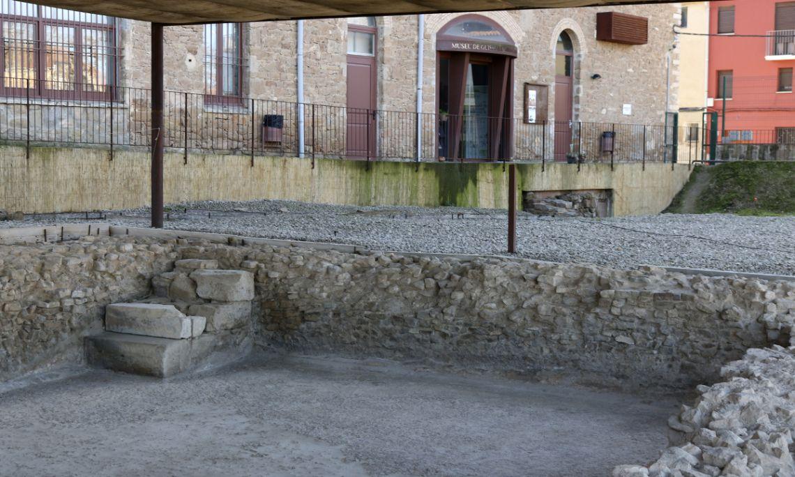 Lanatatio, piscina exterior de grandes dimensiones de las termas de Iesso.