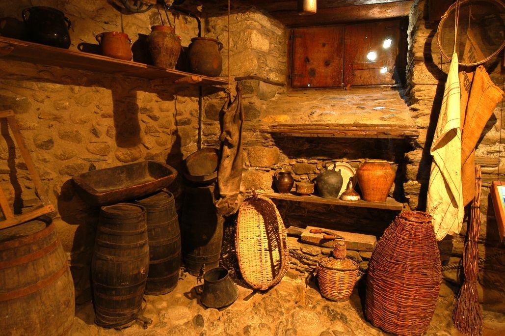 El rebost de Casa Gassia era un espai ideal per a la conservació d'aliments.