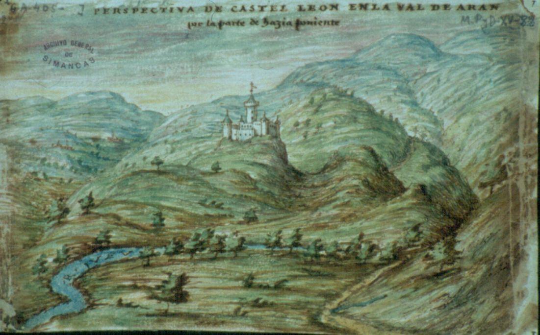 Perspectiva de Castèth Leon, dibujada por Tiburcio Spannochi, ingeniero, en 1594. (A. G. de Simancas).