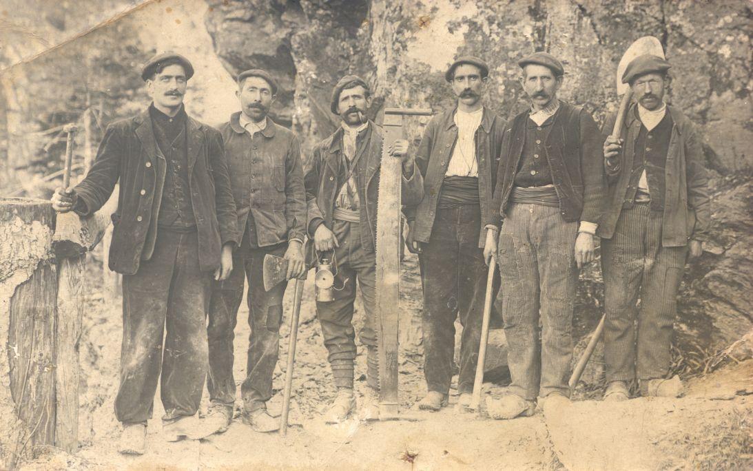Minèrs dera mina Victòria, Arres de Jos. Fòto cedida per Manolito de çò de Paula.