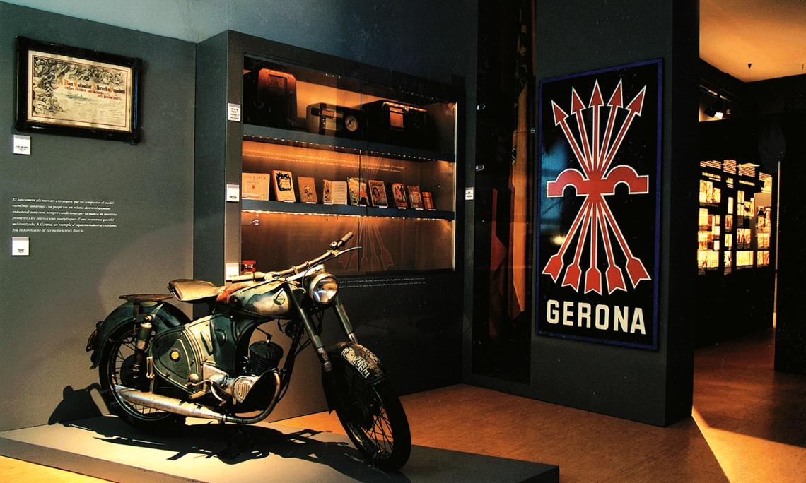 Detalle de las salas dedicadas a la Guerra Civil y al franquismo.