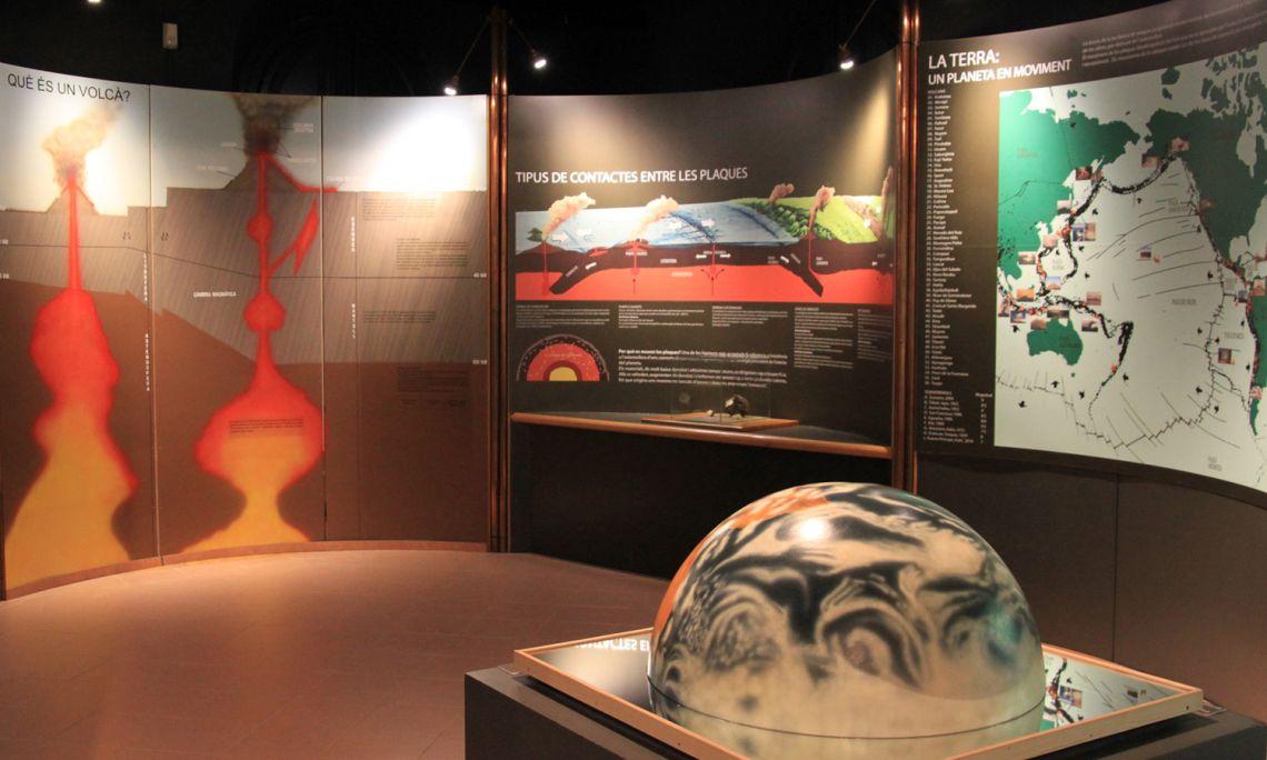 Vista de la sala de terratrèmols i volcans.