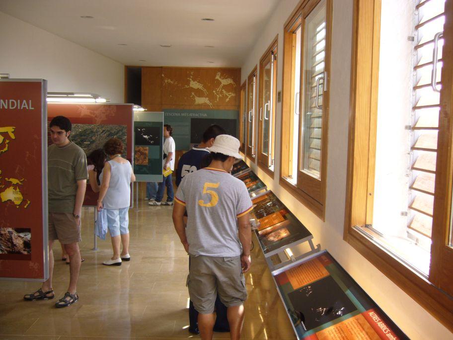 Sala expositiva del Centro d'Interpretación.