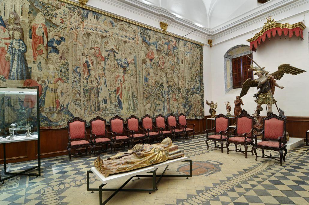 La sala III del museu ocupa la sala capitular, on en ocasions solemnes prenen possessió els capitulars.