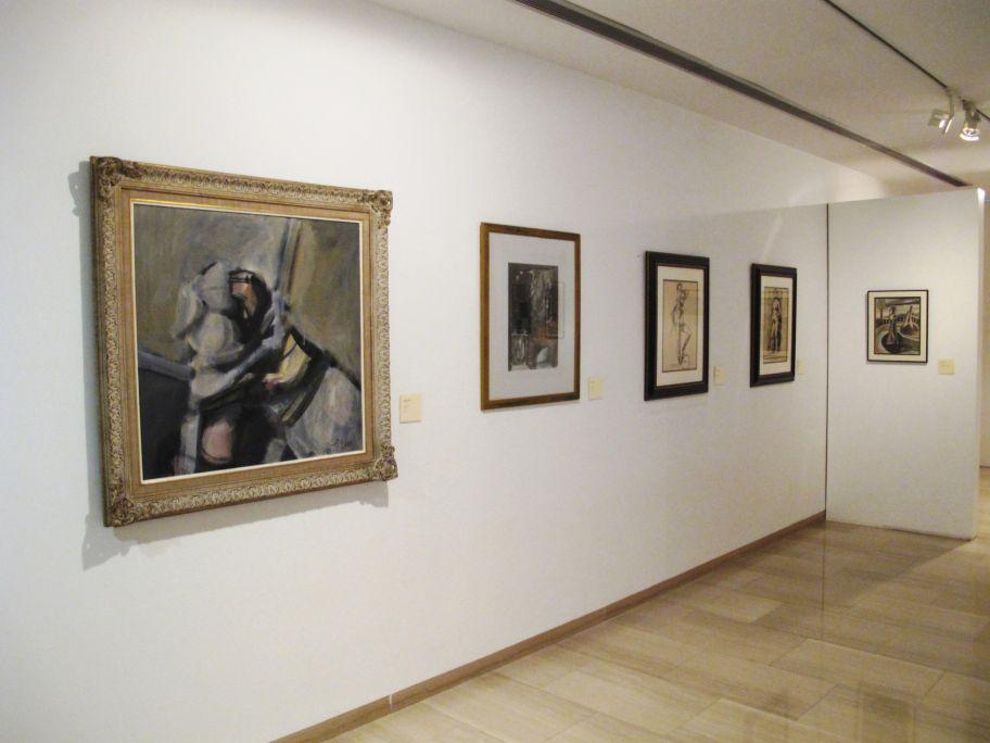 Vista de la sala amb les obres de Pancho Cossío i Rafael Zabaleta