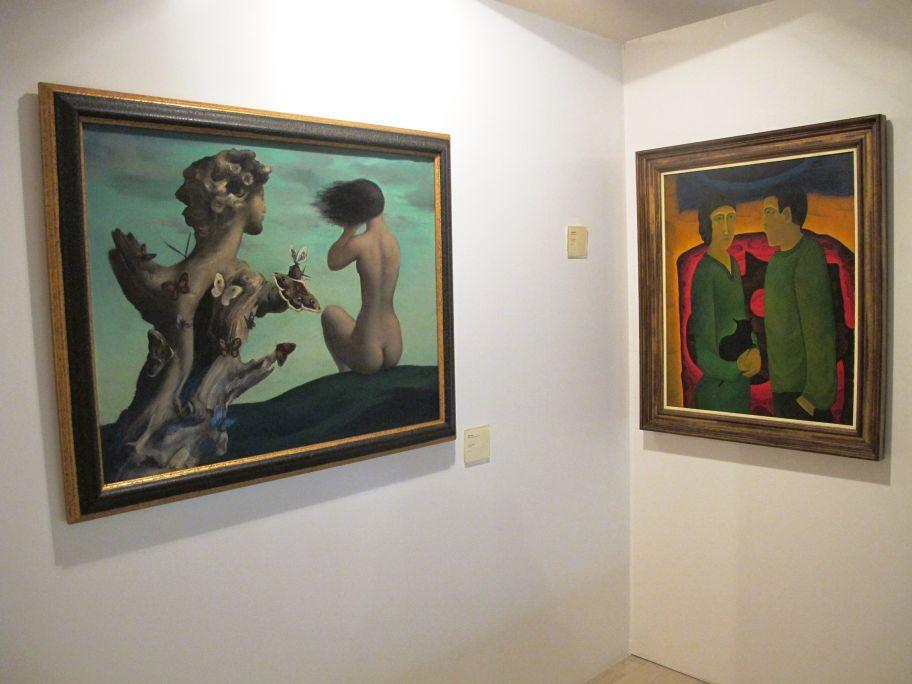 Œuvres de Marc Aleu et Joan Brotat, dans l'espace de la deuxième avant-garde