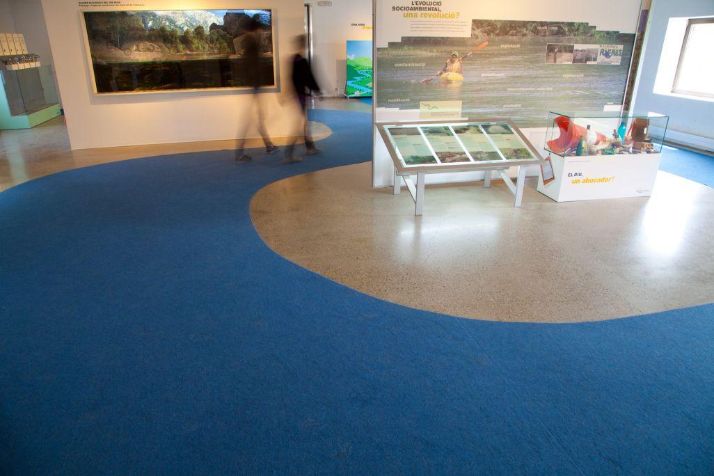 Aquari amb les espècies autòctones del riu Ter
