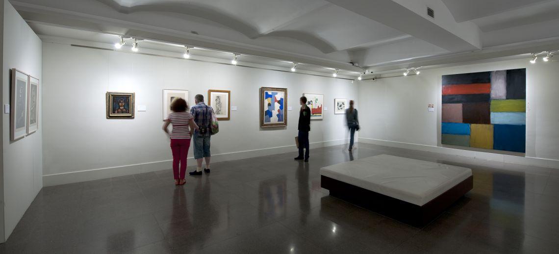 Sala de arte contemporáneo.