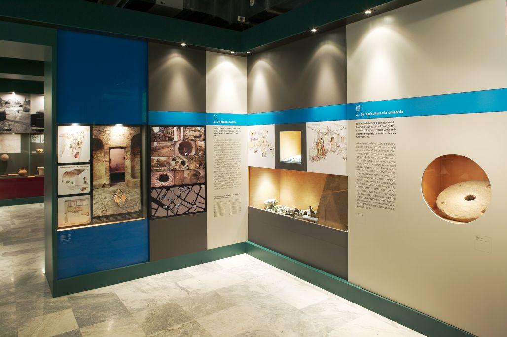 Sala 4 del Museo de Gavà. Payeses y comerciantes de la antigüedad