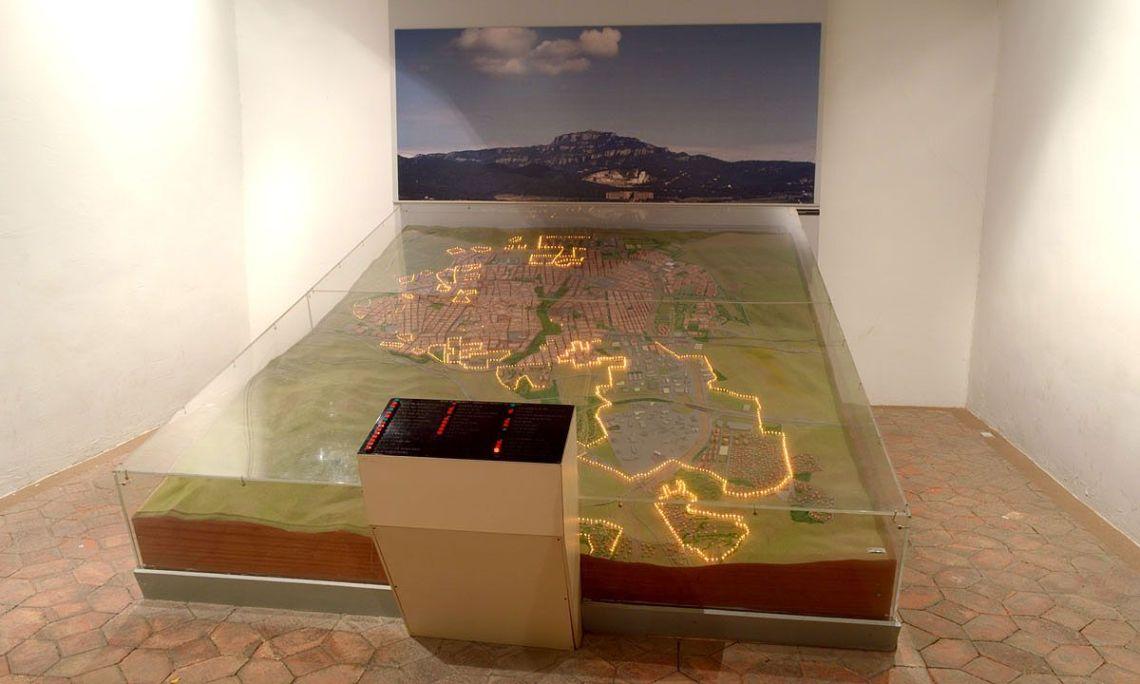 Maqueta interactiva. Foto: Museu de Terrassa