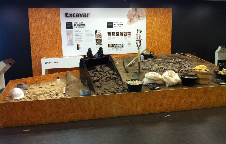 Representació d'una excavació paleontològica