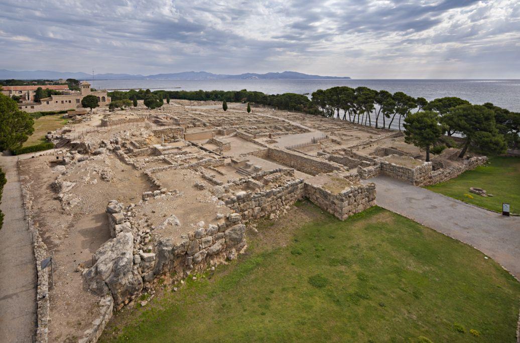 Vue générale de la ville grecque d'Empúries