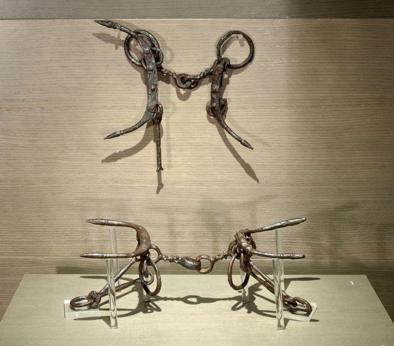 Frens de cavall procedents de la necròpolis de la Pedrera, segurament relacionats amb l'enterrament d'un guerrer.