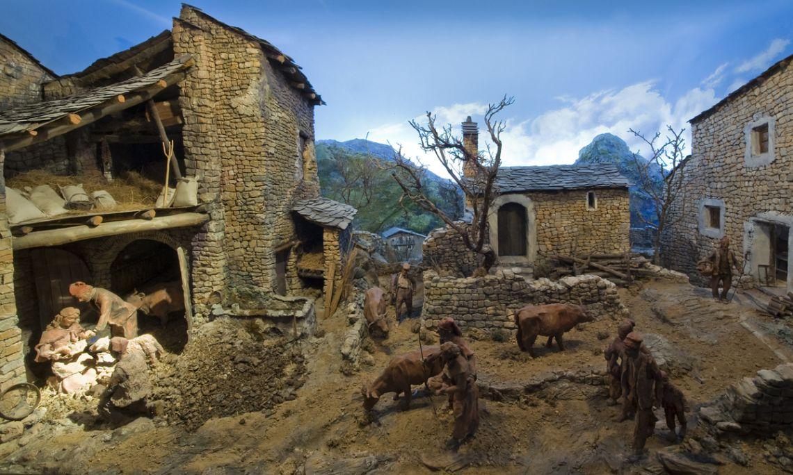 El Museu de la Vida Rural disposa d'una singular col·lecció de pessebres.