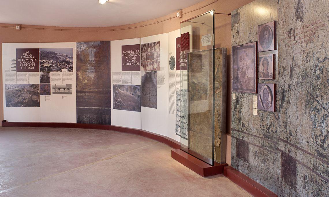 Vista de un sector delcentro de interpretación de la villa de Els Munts.