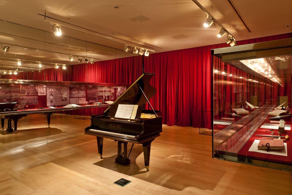 Sala dedicada a la música en Cataluña de finales del siglo xix y principios del xx. ©Museo de la Música. Foto: Pep Herrero